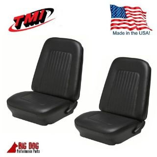Buy 1967 & 1968 Camaro Front Bucket Seat Upholstery Black Vinyl Seat Covers, TMI motorcycle in Los Angeles, California, United States, for US $199.99
