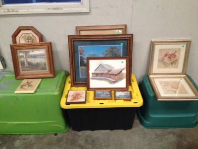 Lots of Picture Frames at Hidden Treasures