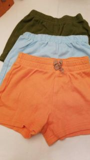 6-9 m shorts orange- FADED GLORY ,BLUE FISHER PRICE-GREEN -CHILD OF MINE CARTER'S