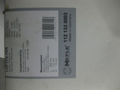Purchase Audi A4 Air filter NEW IN BOX Meyle P/N 112 133 0003 motorcycle in Fair Haven, Michigan, US, for US $9.99