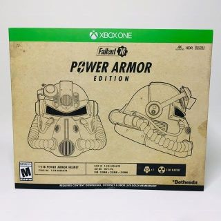 Fallout 76 power armor edition Xbox one new never opened