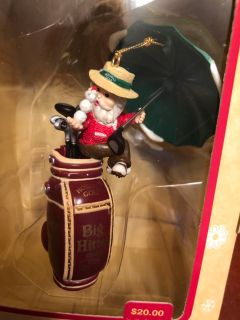 Golfing ornament collectible