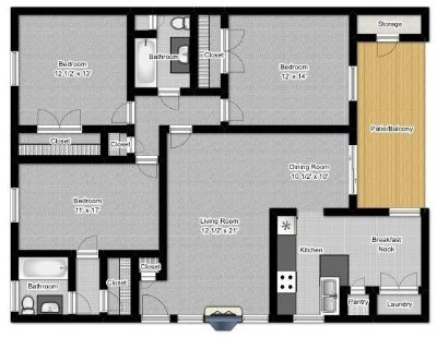 $1295 3 apartment in Buncombe (Asheville)