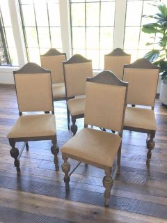 Set of 6 French Antique Dining Chairs