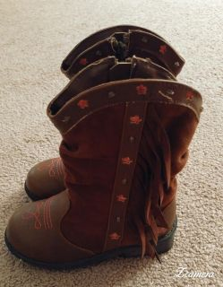 Toddler Girls Cowgirl Boots Size 9