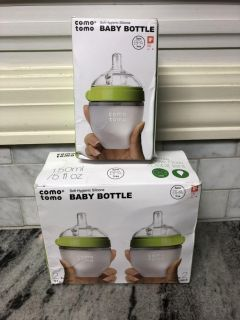 NEW in box Como Tomo green 5oz baby bottles ($12.99 for 1 at Target) $5 each or $12 for all three