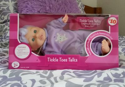 Adorable Tickle Toes Talks Laughing & Giggling Doll