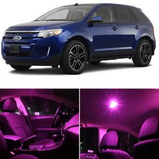 Buy 8x Pink LED Interior Map Light + License plate Package For Ford Edge 2011-2014 motorcycle in Pomona, California, United States