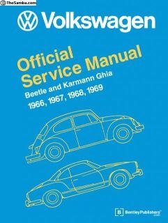 VW Beetle and KG Type 1 Repair Manual 66-69
