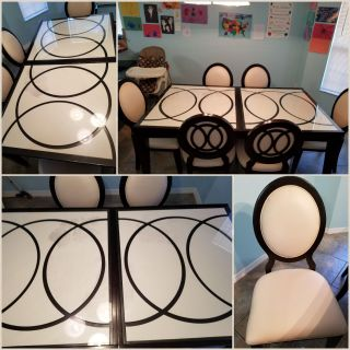 Beautiful glass dining room table