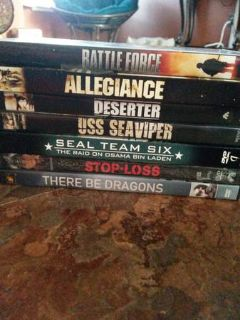 WAR MOVIE LOT 7 DVDS