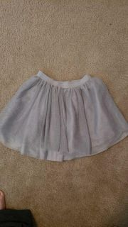 Gymboree silver tulle with liner skirt size 8. Porch pickup