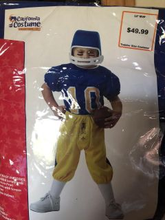 Football player costume, toddler size, new, smoke free in Darboy and crossposted