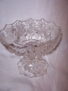 Small Vintage Glass Compote with Pedestal Base