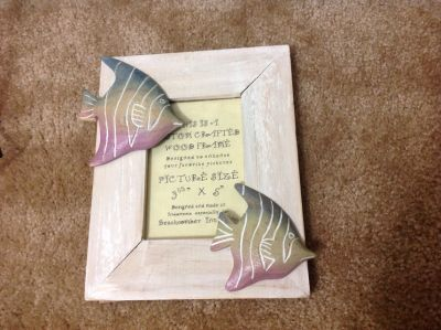 "WOODEN ""FISH"" FRAME LIKE NEW"