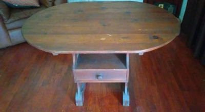 Antique hutch table