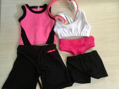 American Girl Doll Running Outfits With head Phones