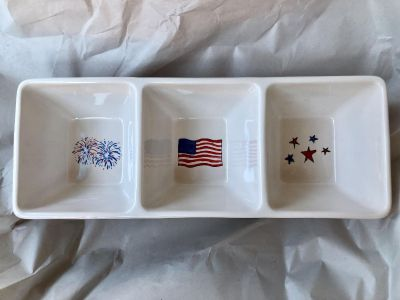 Rae Dunn Fourth of July serving tray