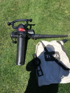 Toro rake & vac blower with bag tubes attachments for grass and leaves clean up good shape