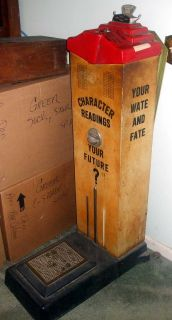 Vintage Coin Operated Weight/Fortune Teller Machine by American Scale Manufacturing Company