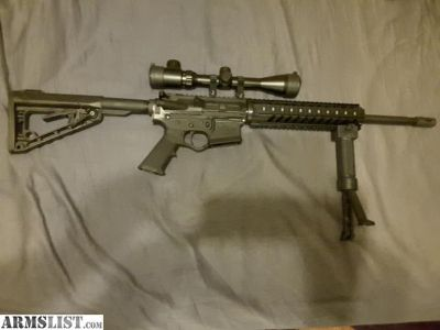 For Sale: AR15, m4, 300 aac blackout, quad rail, bipod