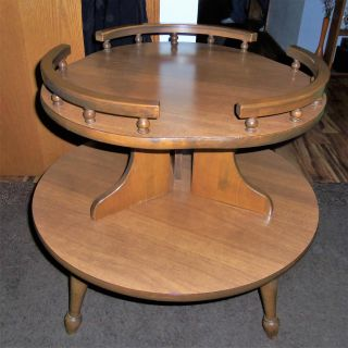 beautiful antique two tier table