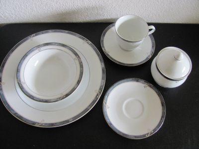 Complete platinum china dinner service