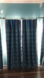 Curtain panels black out backing window treatment drapes