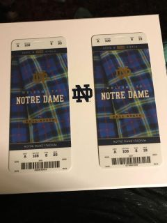 Notre Dame VS Ball State $200 each