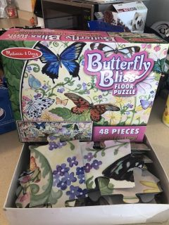 Melissa and Doug butterfly floor puzzle