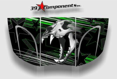 Sell Arctic Cat Prowler 550, 650, 700, 2005-2009 Graphic Decal Sticker Skull Hood GRN motorcycle in Provo, Utah, United States, for US $110.00