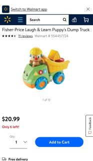 Fisher Price Laugh & Learn Puppy Dump Truck. In great condition. Has all parts and everything works. Asking $10