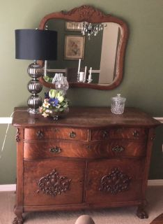 Gorgeous Tiger Oak Buffet with Mirror