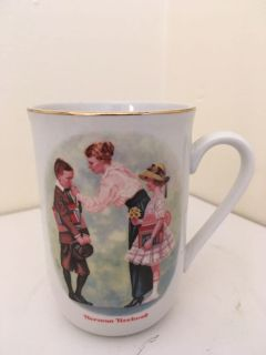 Vintage 1986 Norman Rockwell The First Day of School Coffee Cup