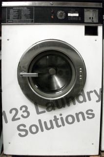 Coin Operated Maytag Front Load Washer 18lbs 120v White AT18MC1 Used