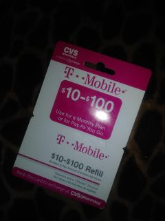 T-Mobile refill card $100