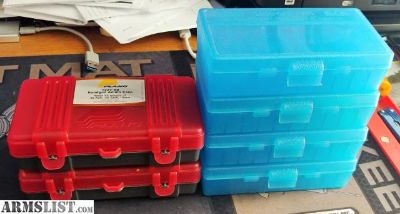 For Sale/Trade: PLASTIC AMMO BOXES 10mm, 40S&W, 45ACP.