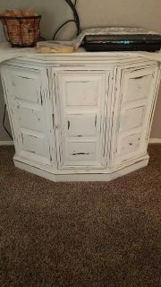 Shabby Chic Farmhouse console table with storage