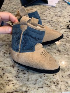 Cowboy slippers - toddler size 4-9
