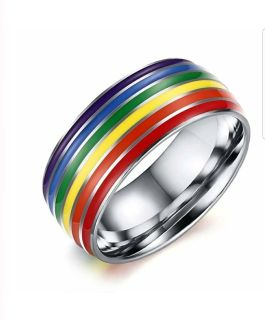 Stainless Steel LGBT Ring