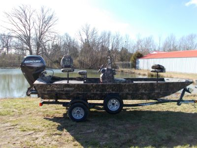 2019 Lowe ROUGHNECK 1860 CC W/ MERCURY 65 JET & TRAILER Jon Boats West Plains, MO
