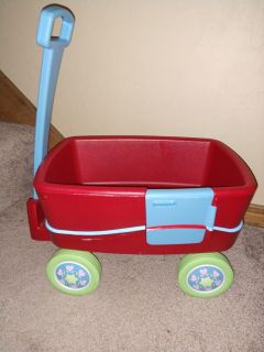 American Girl Doll Bitty Baby Twins Red Wagon- Retired With Box