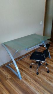 Modern desk and chair