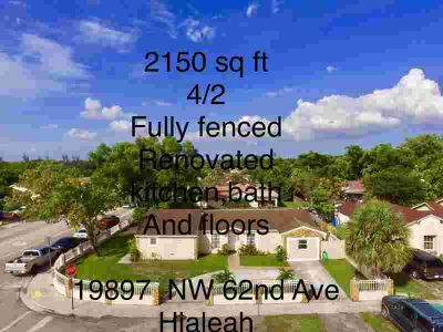 19897 NW 62nd Avenue Hialeah Four BR, owner motivated !!