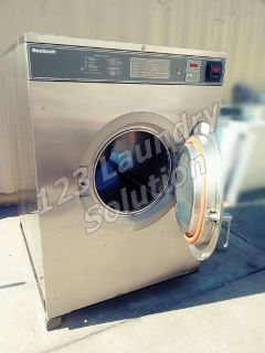 Coin Operated Huebsch Front Load 80 lbs Washer 200-240v Stainless Steel HC80VXVQU6​0001 Used