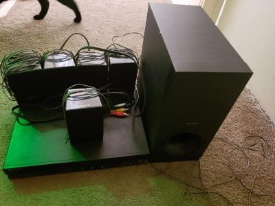 DVD and surround sound system