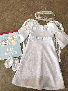 """American Girl Sparkly Angel Costume for 18"""" dolls"""