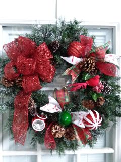 """24"""" Christmas wreath. Handcrafted"""