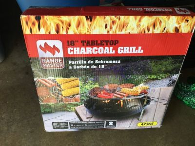 18 tabletop charcoal grill