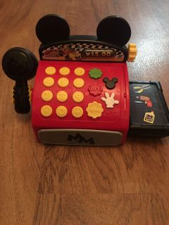 Mickey Mouse Roadster Racers Cash Register. In good condition. Everything works great. Has all parts. Asking $7